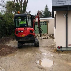 plant hire on driveway